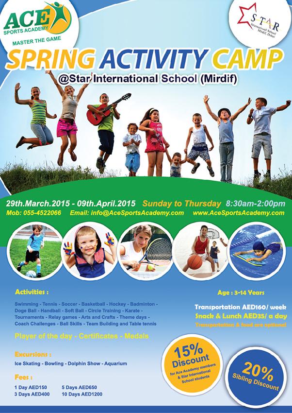 Spring Activity Camp | Ace Sports Academy