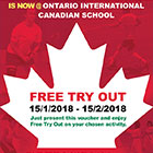 Free Tryout for One Month @ Ontario International Canadian School
